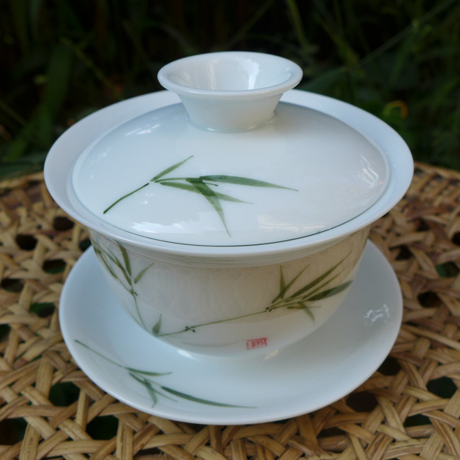 Hand-painted Bamboo Gaiwan 120ml