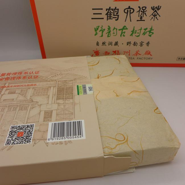 """2014 (2018) Three Cranes Brand """"Ye Yun Gu Shu""""  Liubao Brick Tea 50g"""