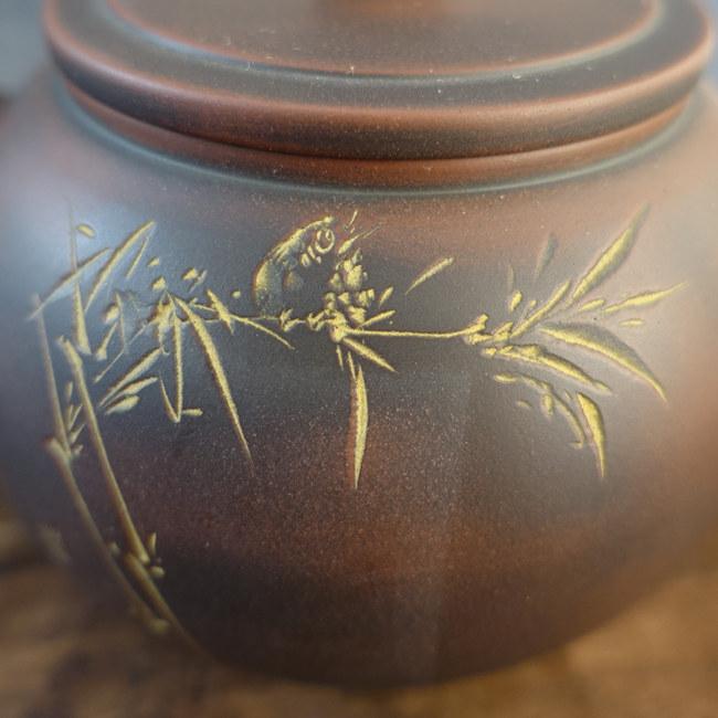 """Nixing Teapot """"Bird and bamboo"""" 200cc"""