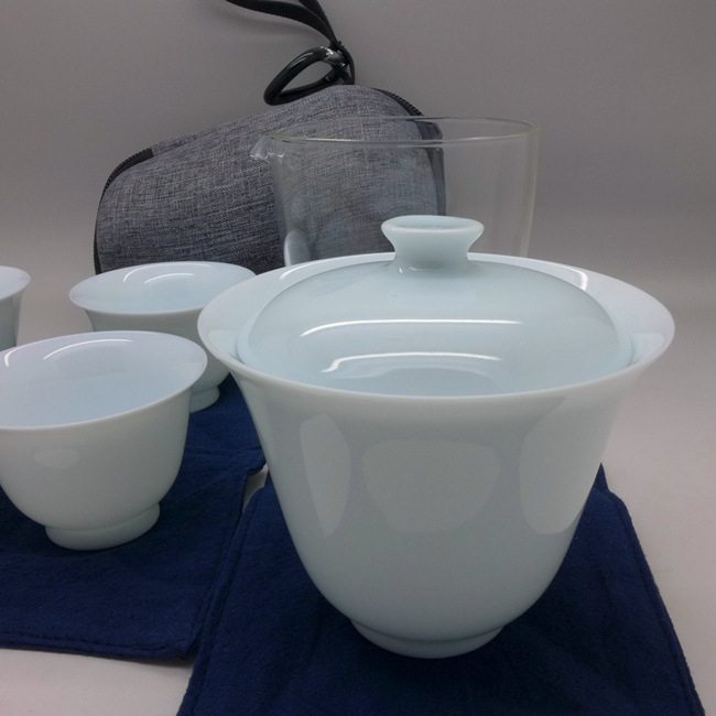 Jade Porcelain Travel Tea Set