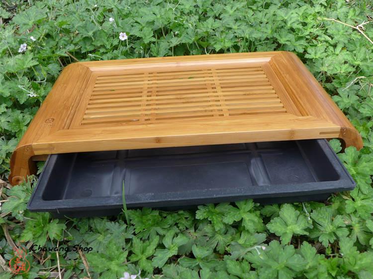 """Bamboo tea tray """"Xiao Kong Ming"""" (Holding Water) 40.3×22×6CM"""