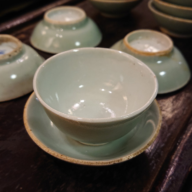 Vintage Celadon Cup and Saucer