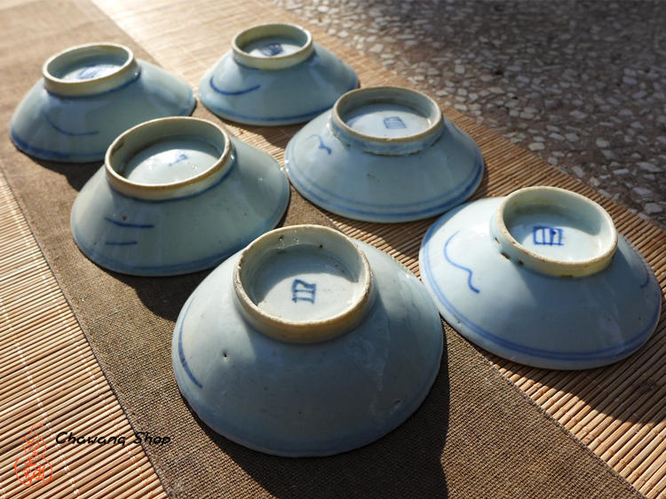 """Vintage Blue-and-white Porcelain Saucer """"Entangled Floral Branch"""""""
