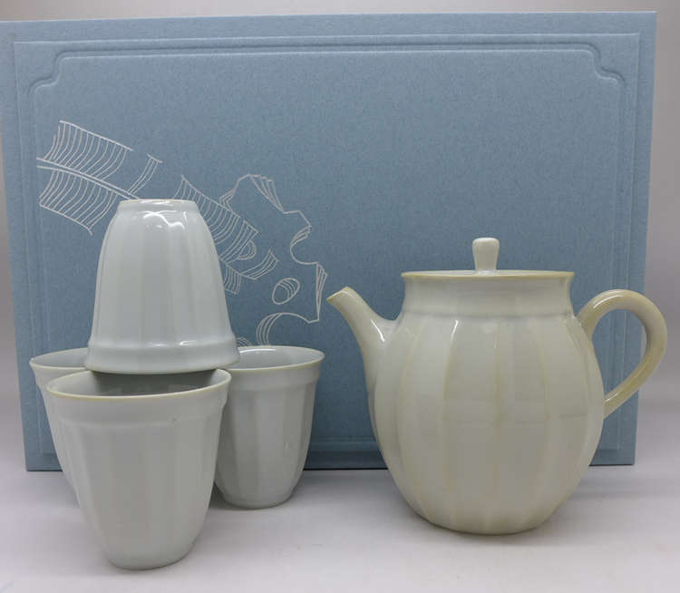 Dehua Porcelain Light Blue Celadon Tea set